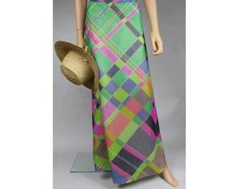 1970 silk maxi skirt small