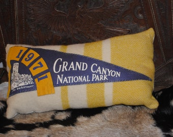 Grand Canyon Vintage Pennant Pillow