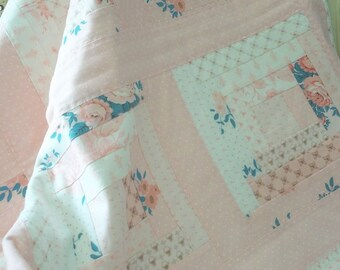 FEMALE QUILT, girl quilt, pink, pink quilt, floral quilt