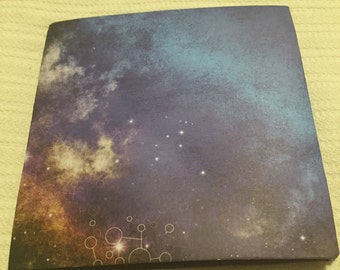 "Folding Scrapbook- Stars and Sky 6.5""x6.5"": great for Mother's Day!"