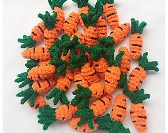 Crochet Carrots : 12 pieces of crochet Carrots.
