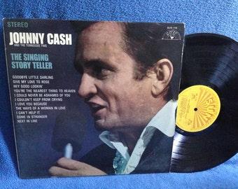 "RARE, Vintage Johnny Cash - ""The Singing Story Teller"", Vinyl LP, Record Album, Original 1970 Sun, Tennessee Two, Come In Stranger"