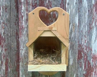 Rustic Cedar Bird Feeder or Nest Box