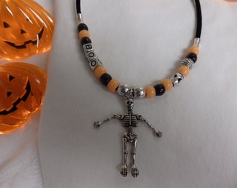 Skeleton necklace perfect for Halloween