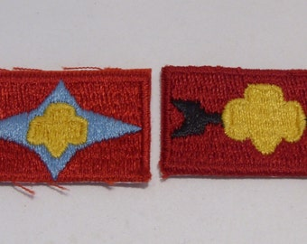 Junior Girl Scout Patches Sign of the Sun and Sign of the Arrow Vintage 1960's to 1970's