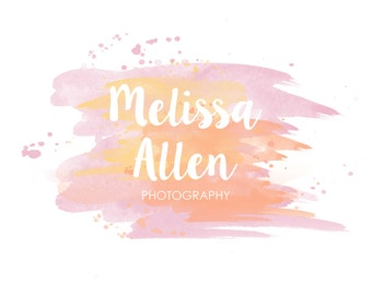 Photography Logo Watermark Personalized Photographer Name Watercolor