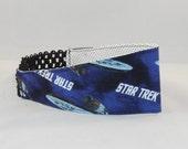 Headband Made With Star Trek Enterprise Inspired Fabric