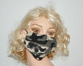 Camouflage face mask, unisex, designer mask, flu mask, hunting, surgical mask, mouth protection, cool