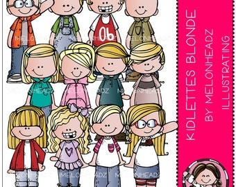 Kidlettes clip art - Blonde Haired