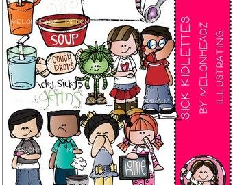 Sick Kidlettes clip art