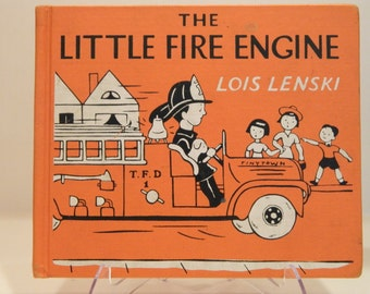 The LITTLE FIRE ENGINE, Vintage Children's Book, Lois Lenski, 1948, Good Condition
