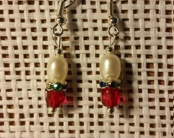 Fresh Water Pearl & Swarovski Crystal Earrings