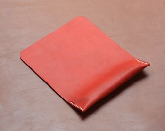 Leather Mouse Pad, Ergonomic Wrist Rest Support, Premium Italian Leather, Red, Free Shipping