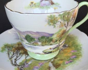 Shelley English Lakes Teacup and Saucer