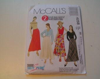 McCalls Pattern 4258 Miss Bias Skirt