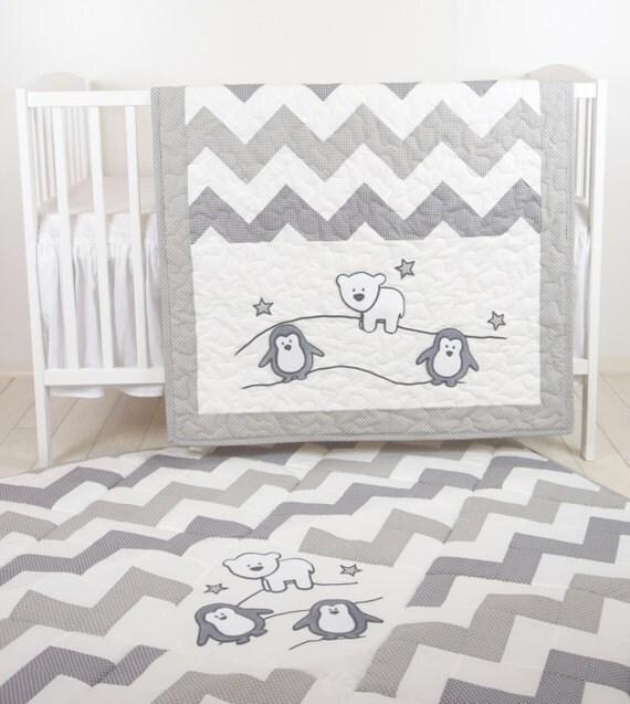 Penguin Crib Bedding Girl