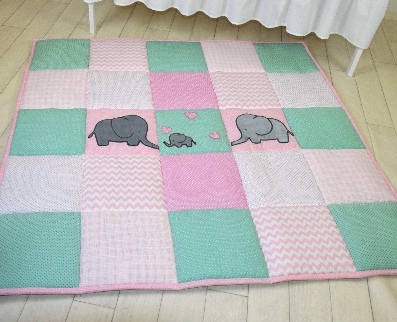 baby girl play mat mint pink playmat floor gym crawl mat. Black Bedroom Furniture Sets. Home Design Ideas