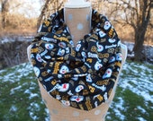 Pittsburg Steelers Glitter NFL Football GameDay Infinity Scarf 10x70 Double Loop.