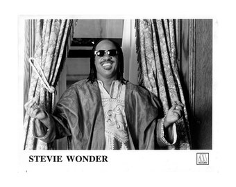 Stevie Wonder Publicity Photo   8 by 10 Inches