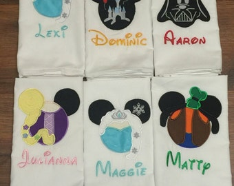 Mouse head disney autograph pillowcases