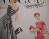 Vintage 1950's Vogue 4826 Special Design Dress Sewing Pattern, Size 14 Bust 34