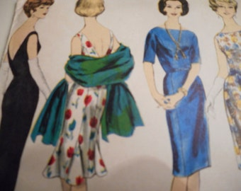 Vintage 1960's Vogue 5357 Dress Sewing Pattern, Size 12 Bust 32