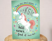 Roald Dahl 'Magic' Quote A5 greeting card
