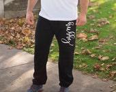 Hubby Pants, Husband Sweatpants, Hubby Shirt, Groom Husband Gift, Wifey, Wedding, Couple Gift, Groom Apparel, Honeymoon, Gift for Husband