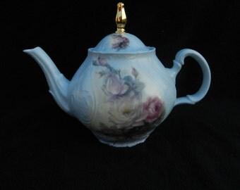 Teapot: Porcelain Hand Decorated