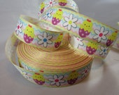 """Easter egg, chick, baby chick, Bunny, Easter, Easter ribbon, Easter craft supplies, Wholesale holiday ribbon, 7/8"""" Ribbon, RN14821"""
