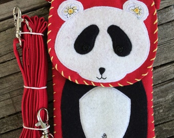 Cross Body Pocket Purse Panda Bear