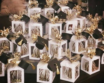 Graduation Gourmet Caramel and Chocolate Apples(9 boxed)