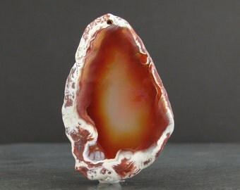 Beautiful  free form  Agate slice,   Agate pendant, Semiprecious stone, Jewelry making Supplies B6206
