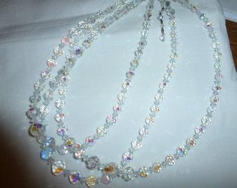 Vintage Glass Crystal Necklace