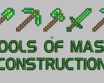 Tools of Mass Contruction - Minecraft - 2 Sizes!