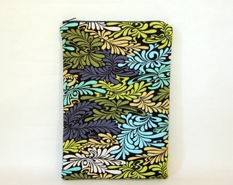 Moon Indigo Tablet Case - Padded & Quilted with Zipper  - for a 7 inch tablet or e-reader - iPad mini, Galaxy Tab, Nexus 7, Kobo and Kindle