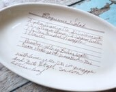 Recipe plate, custom giving plate, handwriting on plate, family gift for everyone, family heirloom, holiday gift for him, memorial gift