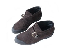Brown suede winter ankle boots womens suede shoes 90s winter shoes size 38