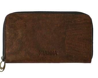 Dark cork wallet / cork clutch / zipper wallet