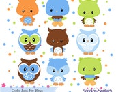 INSTANT DOWNLOAD,  boys owl clipart for personal and commercial use