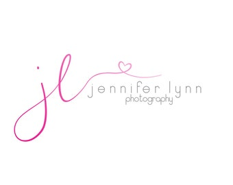 Pink initial photography logo and watermark