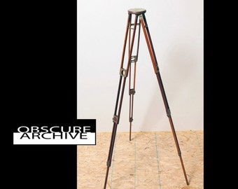 FOLMER & SCHWING Crown #1 Tripod - Beautiful Vintage 1903 Mahogany and Brass Construction