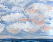 Pacific Rolling Clouds - Original Acrylic Painting