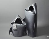 BABY SHARK felt kids toy storage basket, Christmas gift, Toy storage, Kids storage bin, Toy basket, Toy bin, Shark bin, Kid basket,