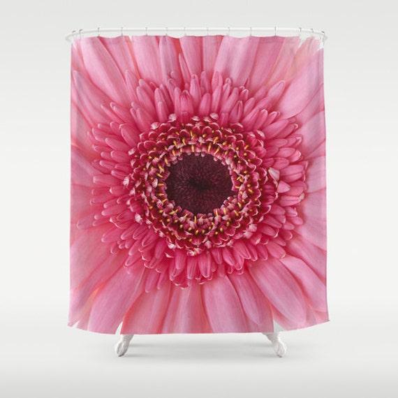 Pink Gerbera Daisy Shower Curtain, Bathroom Decor, Shower Curtain, Bathroom Accessories, Flower, Floral, Garden, Photography, Unique Gift