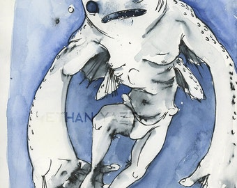 Ningen - Cryptid Series- Print of my original illustration
