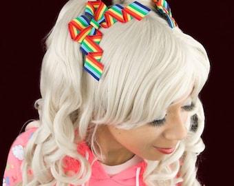 Rainbow Hair bows, hair bows for girls, Toddler hair bow, Adult bows, Rainbow hair clips, Pride Accessory, LGBT Hair bow, Ladies Hair bows
