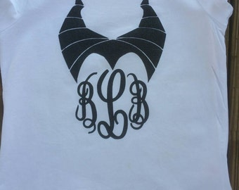 Monogram Maleficent Horns/Maleficent Shirt