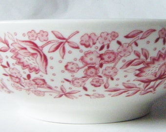 Mid Century Modern Mayflower Red By Syracuse China Chintz Vegetable Bowl Serving Dish