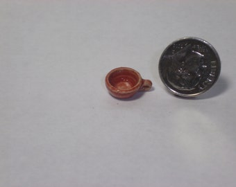 New Handmade Wheel Thrown Pottery Miniature Brown Coffee Cup Tea Cup